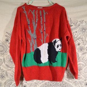 Vintage Panda Sweater